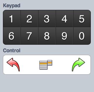 iPhone keypad