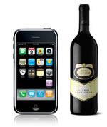 Apple iphone met een wijntje