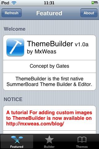 Screenshot ThemeBuilder