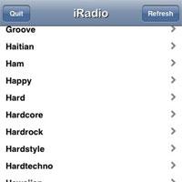 iradio streams iphone