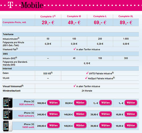 iphone 3g duitsland t-mobile
