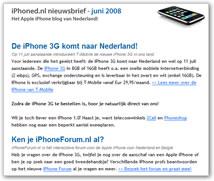 iphoned nieuwsbrief