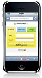 iphone webapps bladwijzer