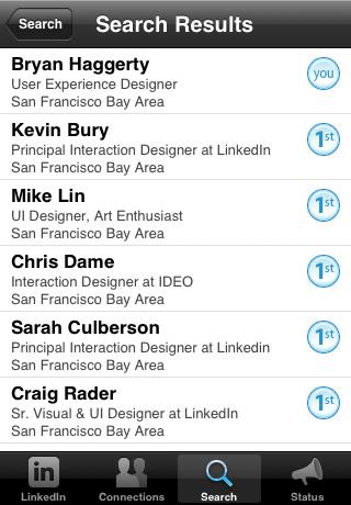 linkedin iphone application