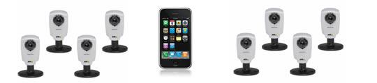 iPhone 3G als mobiele beveiligings surveillance