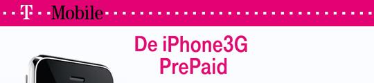 T-Mobile gaat iPhone 3G prepaid verkopen