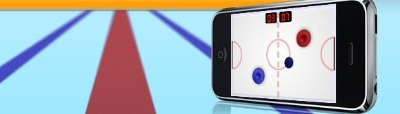 Kaatsen met Touch Hockey applicatie