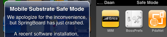 Safe Mode in iPhone