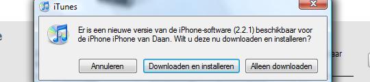 iPhone Firmware 2.2.1 nu beschikbaar!