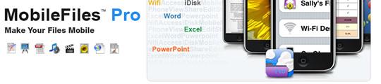 MobileFiles Pro app met office functies