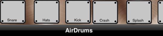 AirDrums, echt drummen op je iPhone