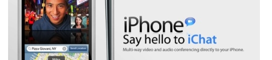 nieuw iPhone concept: 'Say hello to iChat'