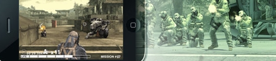 Konami post preview site voor Metal Gear Solid Touch