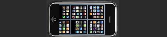 TabSb, zes springboard-schermen op één scherm