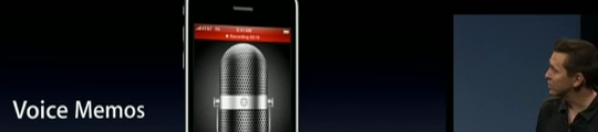 iPhone firmware 3.0: Apple komt met Voice Memo applicatie