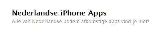 Appsstore.nl: Alle apps van Nederlandse bodem