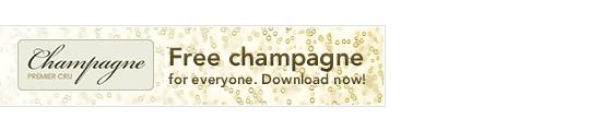 Gratis champagne voor iedereen!