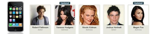 Celebrities en sterren met een iPhone