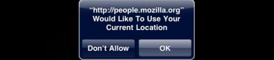 GPS locaties in Safari OS 3.0