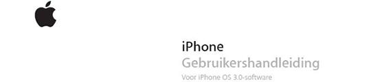 Handleiding iPhone 3GS – Gebruikershandleiding