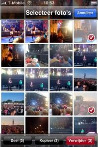 meerdere foto's tegelijk mailen