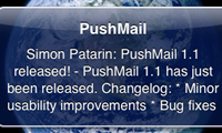PushMail geeft je push notifications van e-mailberichten