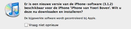 Apple geeft firmware 3.1.2 vrij