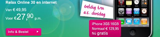 iPhone 3G uitverkoop actie bij T-Mobile