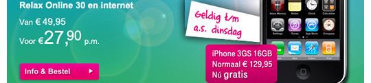 Opnieuw T-Mobile actie: iPhone 3GS Gratis!