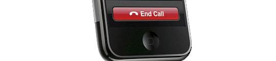 Humor: 'End call' sticker voor iPhone 4
