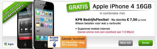 KPN actie (zakelijk) met gratis iPhone opnieuw beschikbaar (update!)