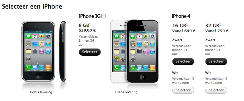iphone 3gs te koop nieuw