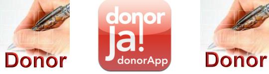 Donor worden via app