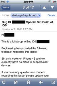 Het bericht waarin Apple het officieel aan geeft, dank aan Michael Steeber