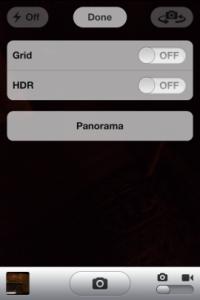 Panorama in iOS camera (dank aan Chapwn)