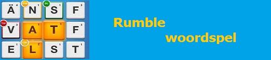 Rumble woordspel populair op de iPhone