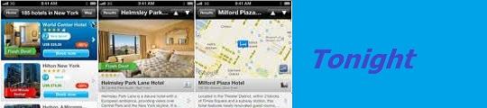 Met de Tonight app op je iPhone vind je overal een hotel