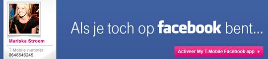 My T-Mobile Facebook app gelanceerd