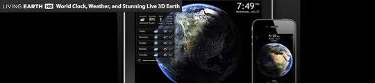 Living Earth HD app voor iPhone in de aanbieding