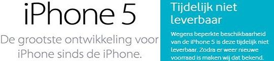 Verkoop iPhone 5 tijdelijk stopgezet bij Vodafone