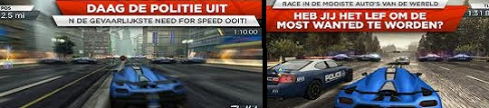Need for Speed Most Wanted nieuwe racegame voor iPhone