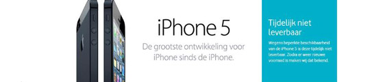 Levertijd iPhone 5 korter