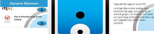 Televisieopname bijwonen via Publiek Gezocht app voor iPhone