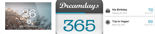 Aftellen met de Dreamdays app op je iPhone