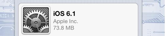 'iOS 6.1 al op 22% van alle iDevices in gebruik'