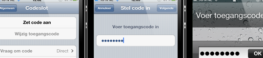 iPhone-codeslot eenvoudig te omzeilen in iOS 6