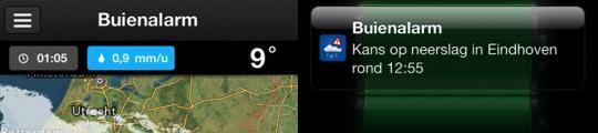 Nieuwe app Buienalarm nu beschikbaar voor de iPhone