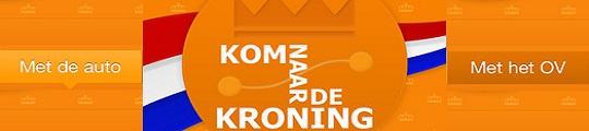 Kom naar de Kroning app laat je de beste route volgen op je iPhone