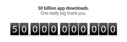 app store bereikt 50 miljard downloads