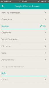 cv app